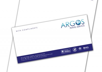 Argos Travel Service Stationery