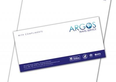 Argos Travel Service Stationery