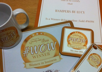 Jacqueline Gold #WOW Winners Promotional Items