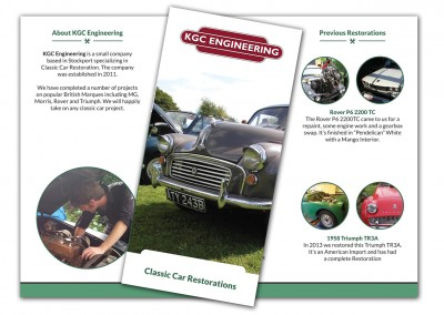KGC Engineering Classic Car Restoration Brochures
