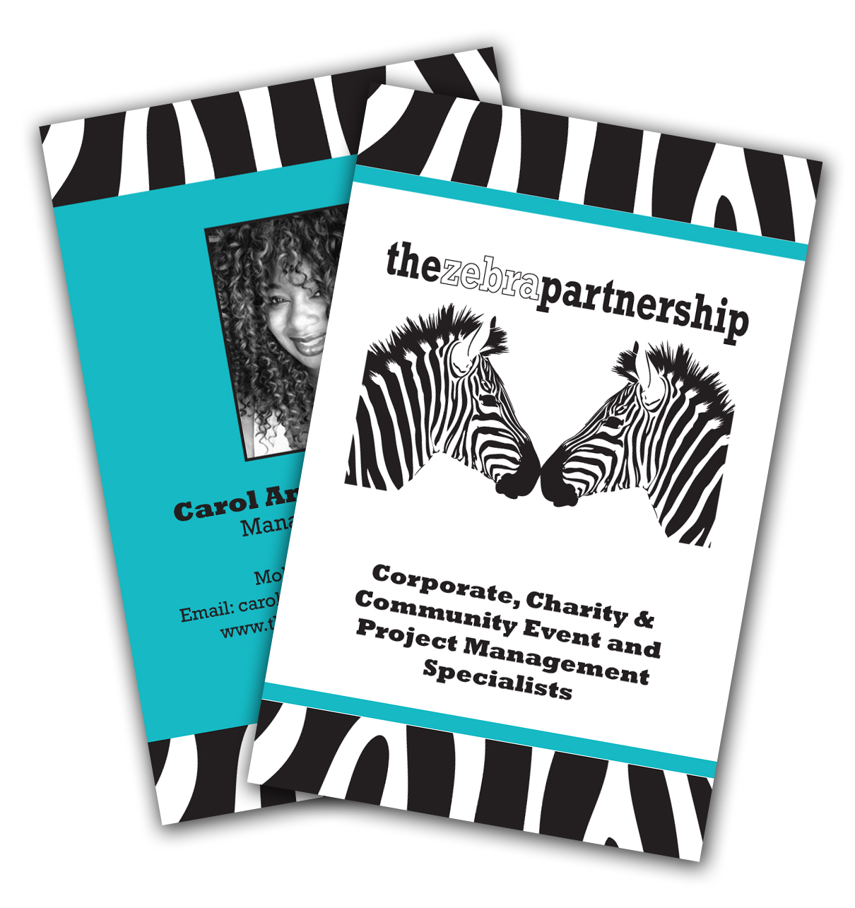 The Zebra Partnership Business Cards – Aqua Design Group | Graphics ...