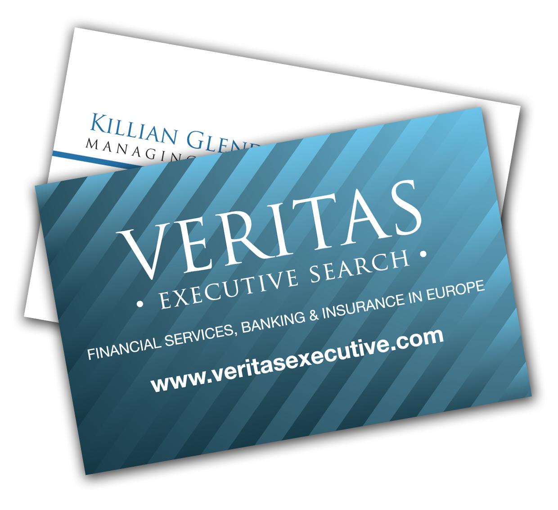 Veritas recruitment business cards aqua design group graphics veritas recruitment business cards aqua design group graphics design and print stockport reheart Gallery