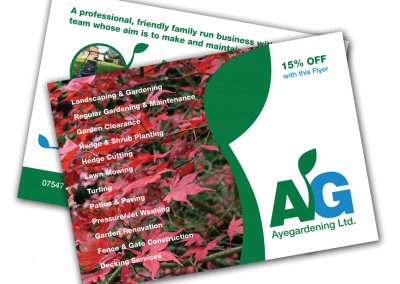 Ayegardening Ltd. A6 Postcards