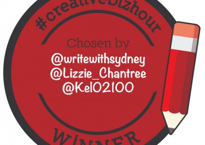 #CreativeBizHour Winners Badge