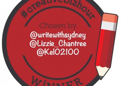 #CreativeBizHour Winners Badge