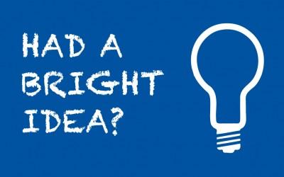 Had a bright idea?
