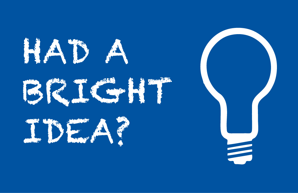 Had a bright idea?