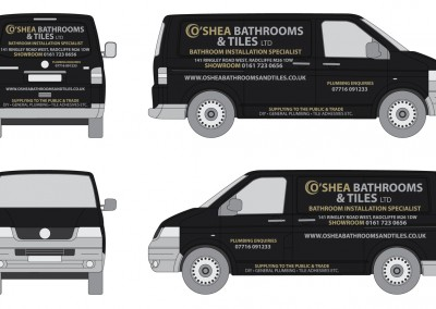 O'Shea Plumbing & Tiles Van Graphics