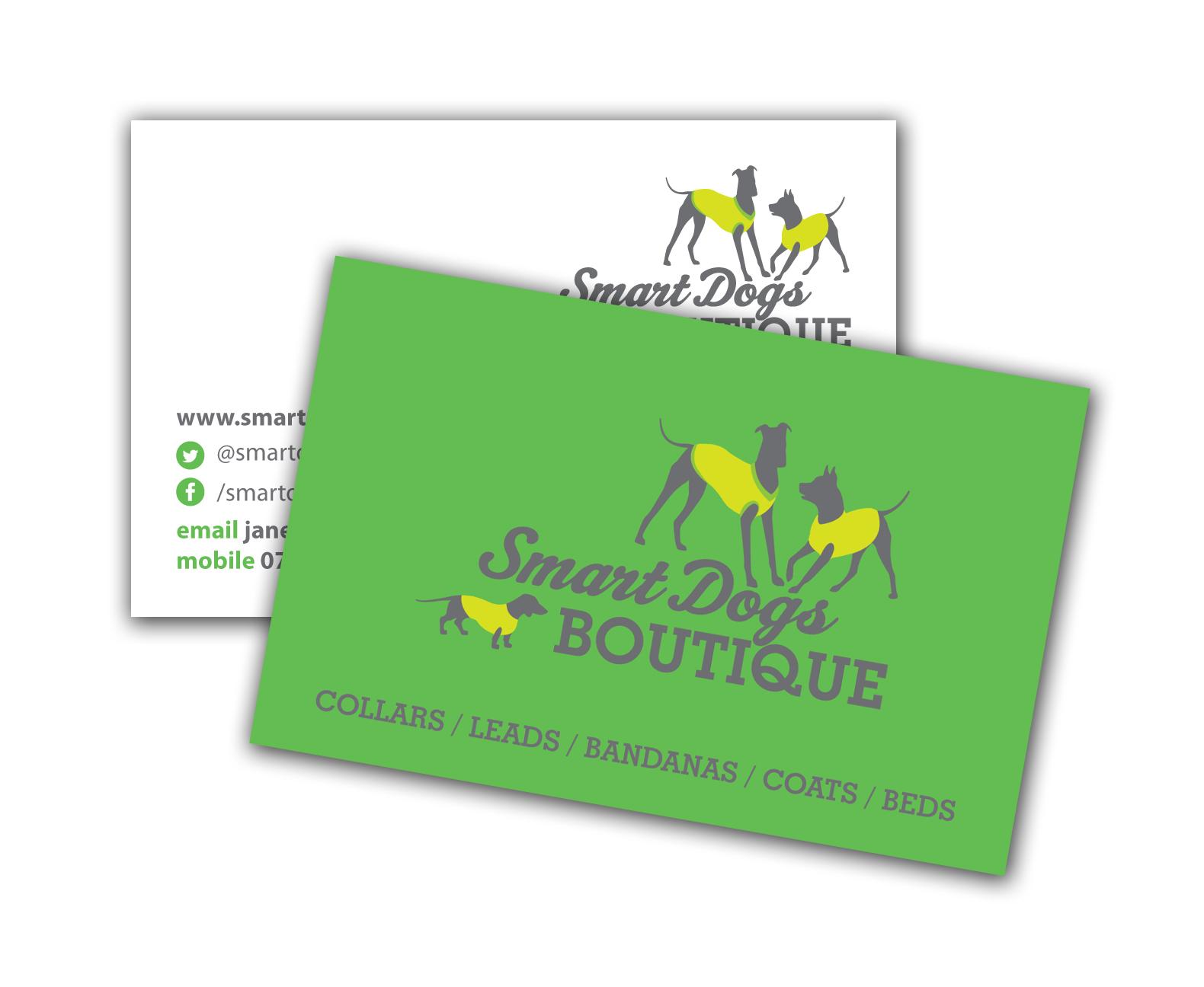 Smart Dogs Boutique Business Cards – Aqua Design Group | Graphics ...