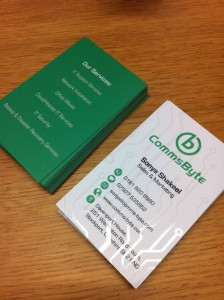 Comms Byte Business Cards