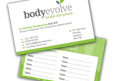 BodyEvolve Family Chiropractic Business Cards