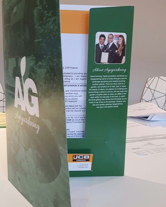 Ayegardening Presentation Folders