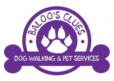 Baloo's Clues Dog Walking & Pet Services Branding Design
