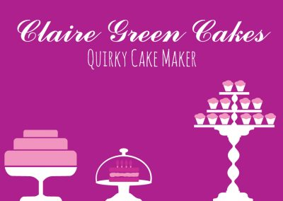 Claire Green Cakes Branding Design