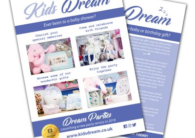 Kids Dream A5 Leaflets