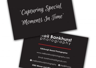 Neil Bankhurst Photography Business Cards