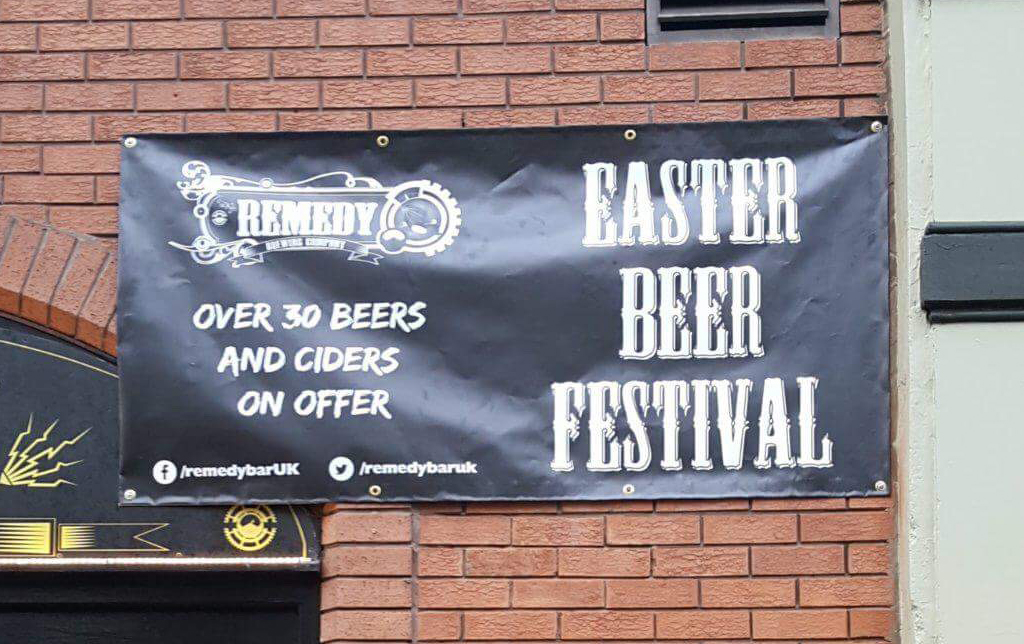 Remedy Bar & Brewhouse Easter Beer Festival PVC Banner