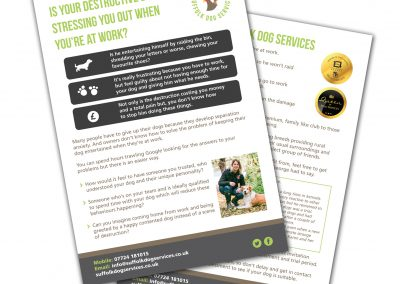 Suffolk Dog Services A5 Leaflets