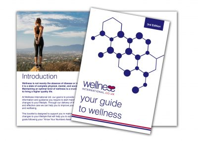 Wellness International Brochure Design