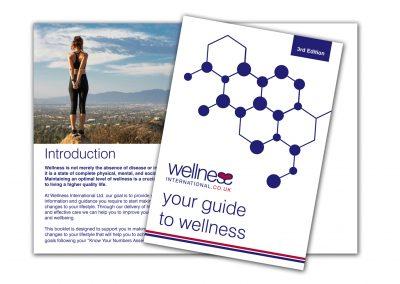 Wellness International Brochure Design