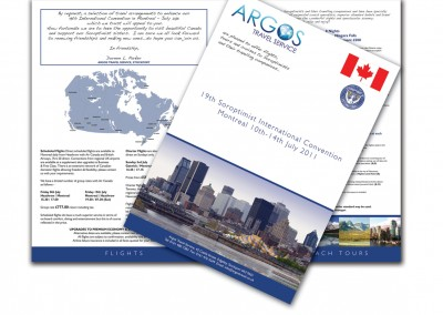 Argos Travel Service Soroptimist Brochure
