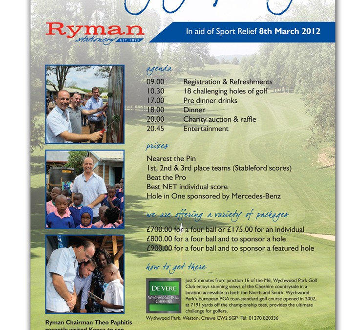 Ryman Stationery Sport Relief Charity Golf Day 2012
