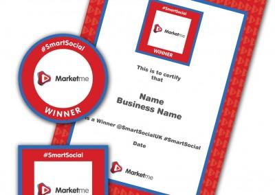 Marketme #SmartSocial Winners Badge