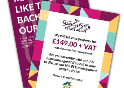 The Manchester Estate Agent A5 Leaflets