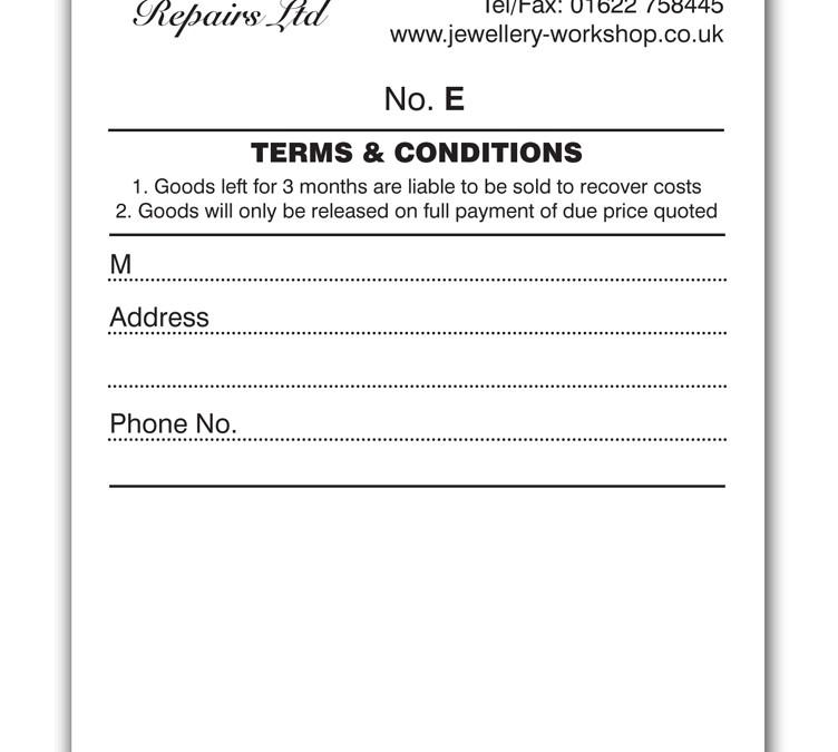 Jewellery Workshop Repairs Ltd. Repair Books