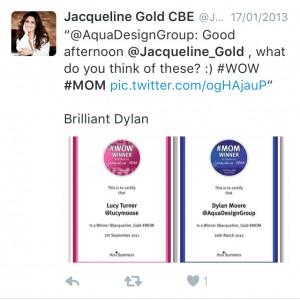 Certificates #WOW #MOM - Pink & Blue Tweet
