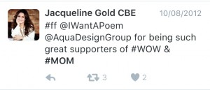 Jacqueline Gold #FF with @IWantAPoem