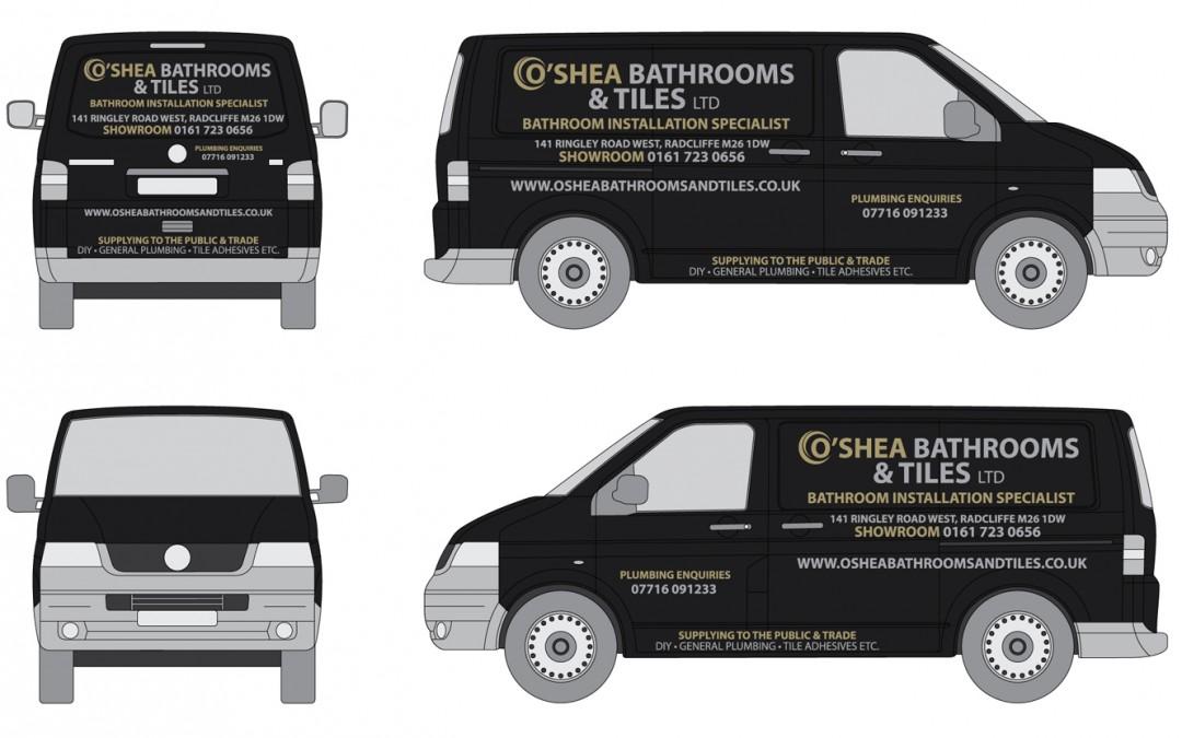 O'Shea Plumbing & Tiles Van Graphics