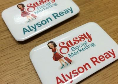 Sassy Social Marketing Name Badges