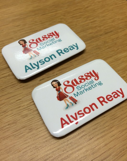 Sassy Social Marketing Name Badges