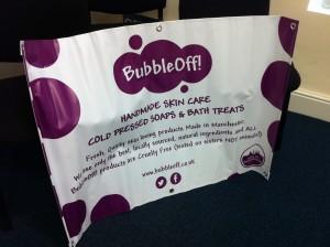 BubbleOff PVC Banner