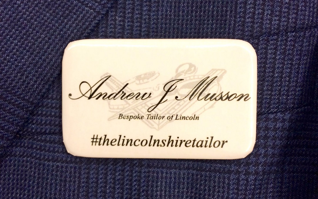 Andrew J Musson Ltd. The Lincolnshire Tailor Name Badge