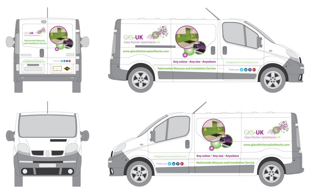 Glass Kitchen Splashbacks UK Van Graphics