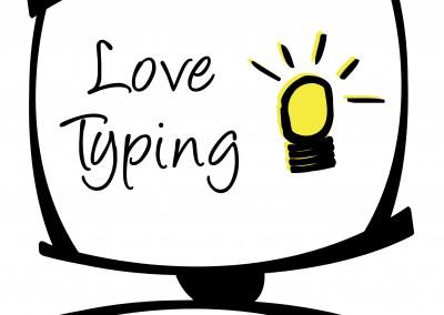 Love Typing Branding Design