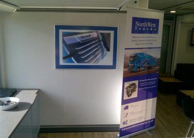 North West Trucks Pop-up Banner