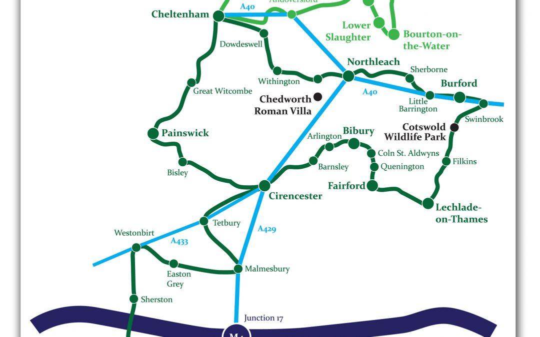 Vintage Classics Cotswolds Map Leaflet
