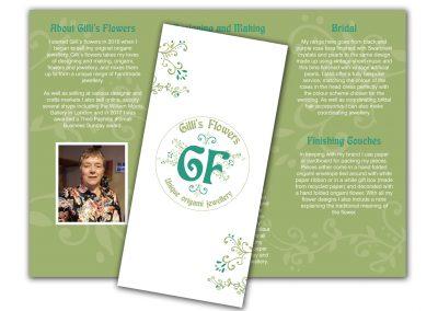 Gilli's Flowers Jewellery Leaflets