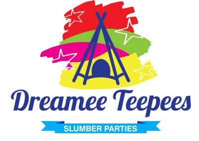 Dreamee Teepees Slumber Parties Branding Design