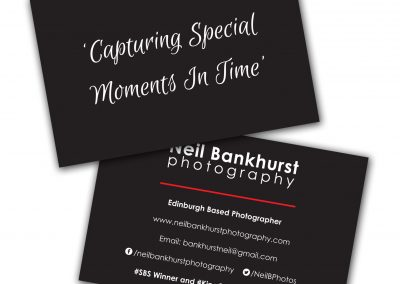 Neil Bankhurst Photography Business Cards