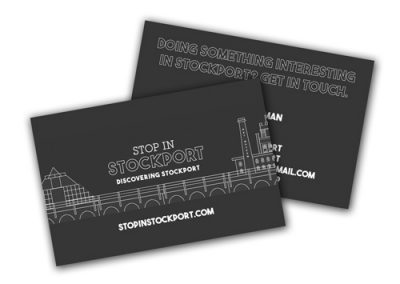 Stop in Stockport Business Cards